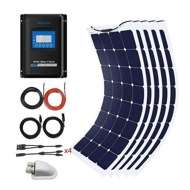 ACO Power 550 Watt Flexible Panel Solar Marine Kit