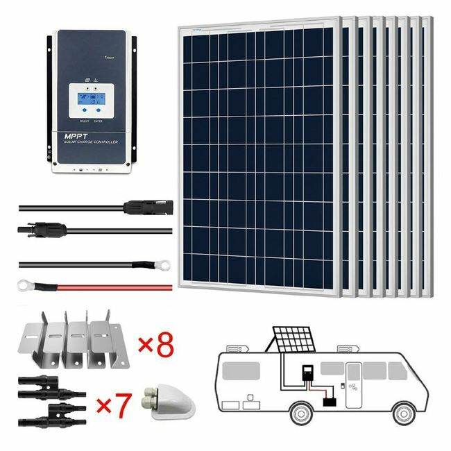 ACO Power 800W 12V Solar RV Kit - 60A MPPT Charge Controller
