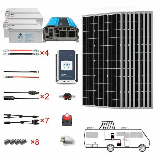ACO Power 800 Watt Monocrystalline RV Solar Kit
