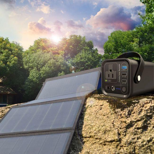 ACO Power 154Wh Portable Solar Generator Kit with 50 Watt Solar Panel