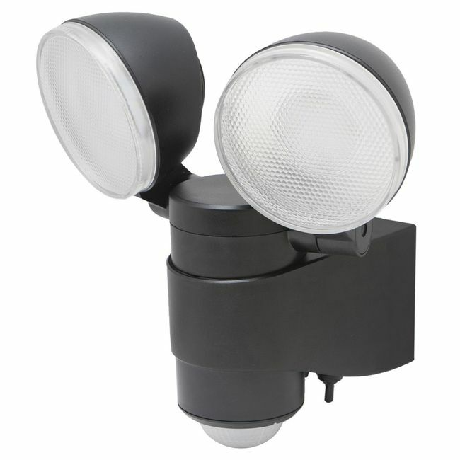 Battery-Powered Dual Head Motion Activated Spotlight