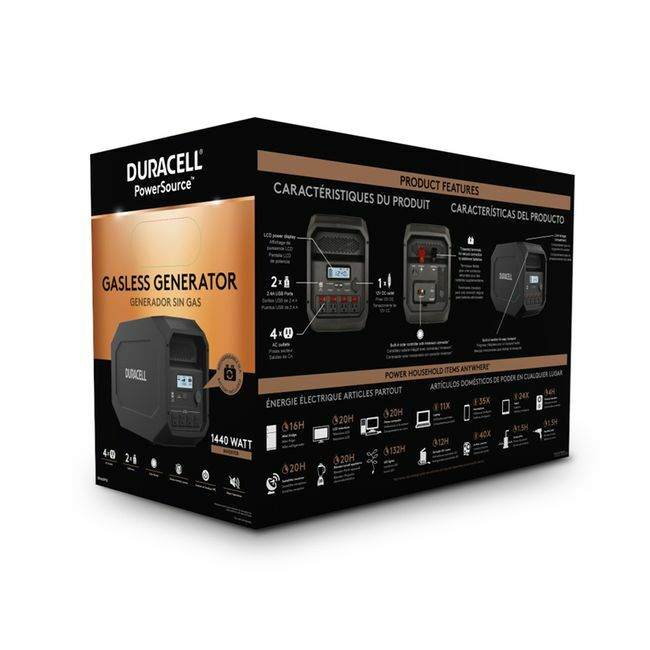 Duracell PowerSource 660 Portable Power Station - 1440 Watts