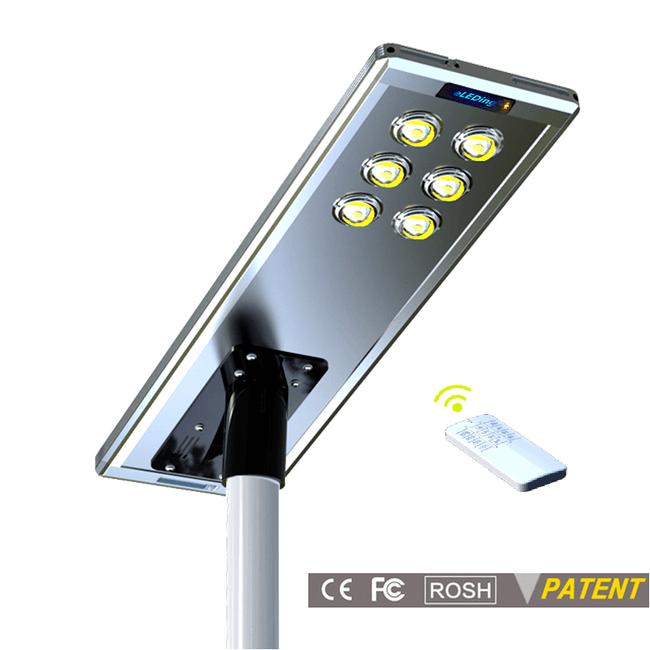 Earthtech Products 60 Watt LED Ultra High Powered Solar Street Light - 9600 Lumens