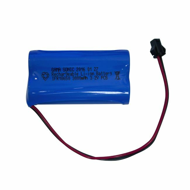 Gama Sonic 3000 mAh Replacement Battery - for GS-97, GS-103 and GS-104 Series Lamps - Lithium Ion