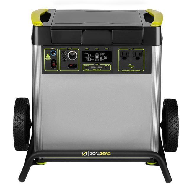 Goal Zero Yeti 6000X Solar Generator Kit with (4) Nomad 200 Foldable Solar Panels