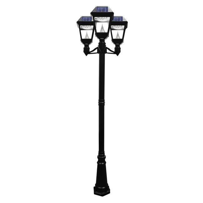 Imperial II Solar Lamp Post - Triple Head