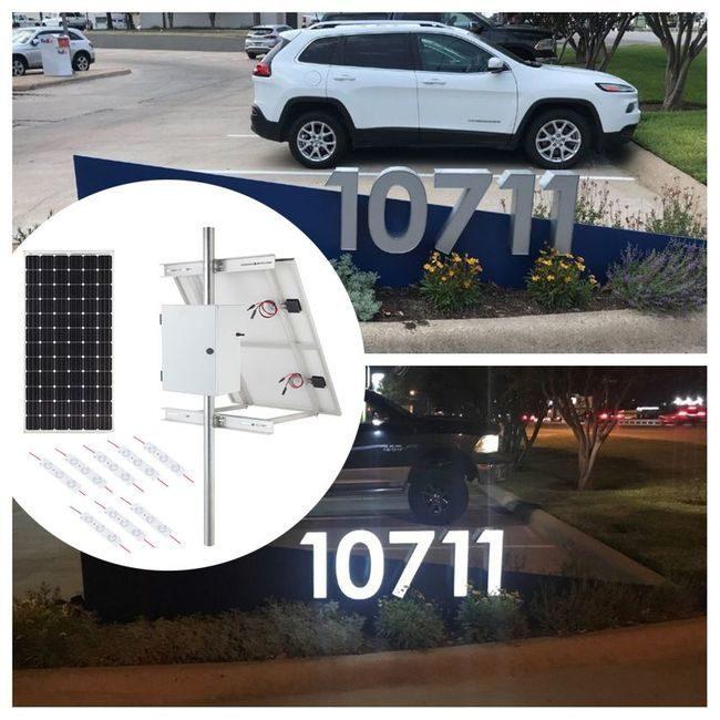 Internally Lit LED Module Solar Lighting Kit - 6200 Lumens