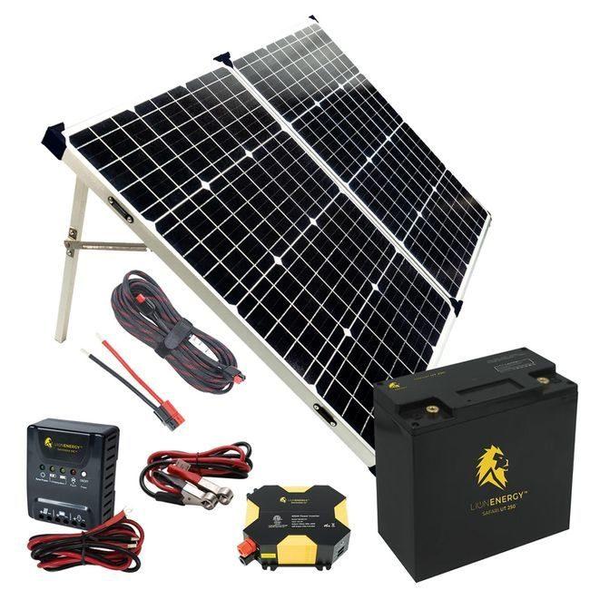 Lion Energy Beginner DIY Solar Power Kit Featuring the UT 250 Lithium Battery