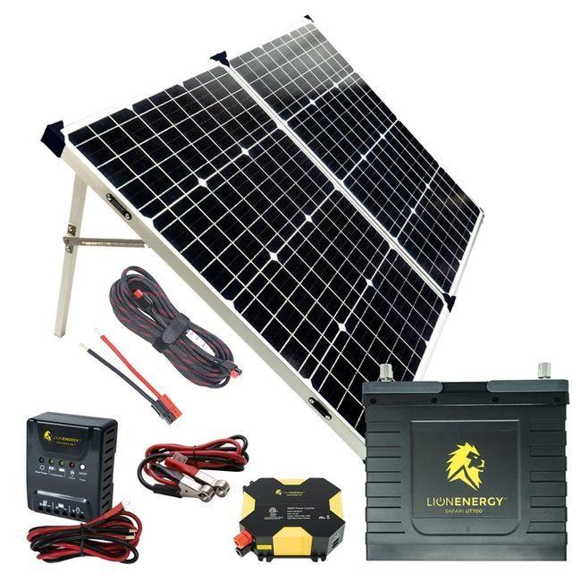 Lion Energy Beginner DIY Solar Power Kit Featuring the UT 700 Lithium Battery