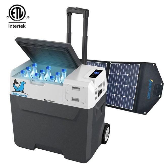Lioncooler x50A Portable Fridge/Freezer Solar Panel Kit