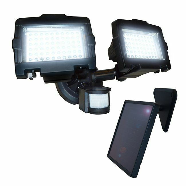 Nature Power Dual-Head 120-LED Solar Security Light