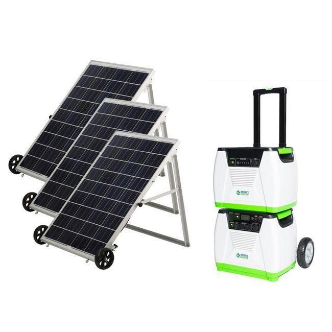 Natures Generator Portable 1800-Watt Solar Generator - Platinum Kit