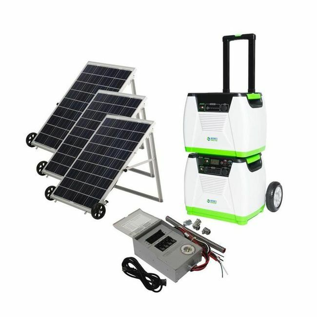 Natures Generator Portable 1800-Watt Solar Generator - Power Transfer Platinum Kit