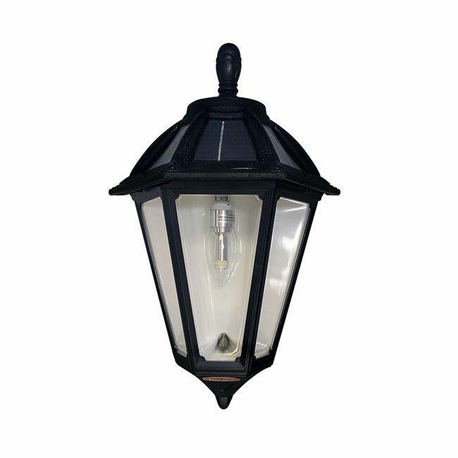 Polaris Sconce Solar Lamp in Classic Black Finish