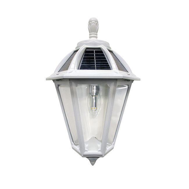 Polaris Sconce Solar Lamp in Classic White Finish