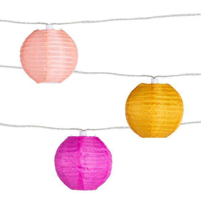Soji Peach Bellini Solar String Lights