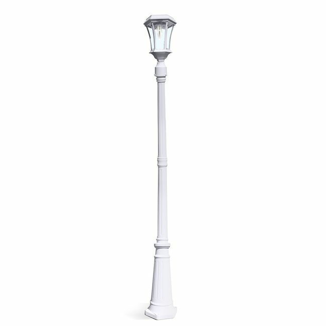Victorian Solar Lamp Post in White