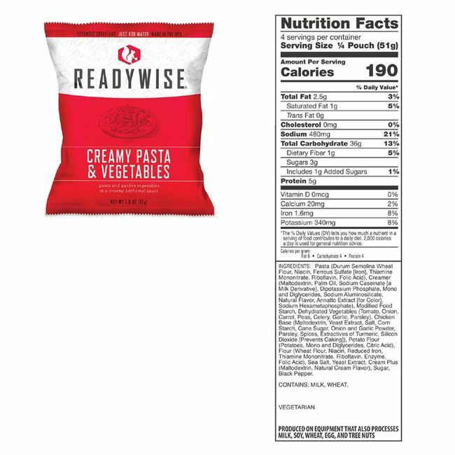 Ready Wise 1440 Serving Package - Long-Term Food Supply for Emergencies
