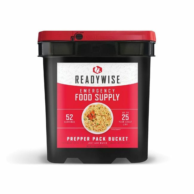 Ready Wise Prepper Pack Bucket - 52 Servings - Long-Term Food Supply for Emergencies