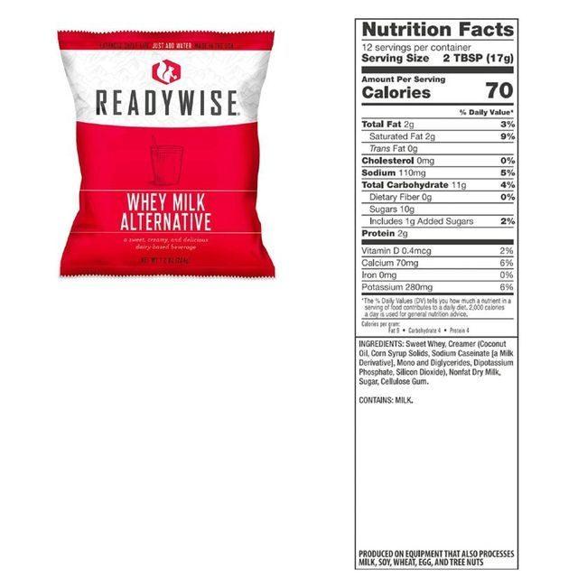 Ready Wise Milk - Long-Term Whey Milk - 120 Servings