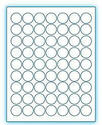 "1"" Circle  Laser/Inkjet Labels; 63 up; (250 sheets/box) - Standard White Matte"