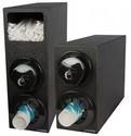 Sentry Bev & Lid Dispenser Cabinet (1) C5450C (1) L2200C w/Straw Compartment & Black Trim Rings