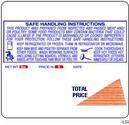 Ishida (64mm x 59mm) AC-2000, AC-3000, AC-4000, BC-3000, BC-4000 UPC, Safe Handling Scale Labels (7500 labels/case)
