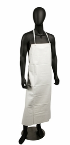 Vinyl Dishwashing Apron - White - 20 Mil