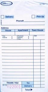 3-Part Carbonless Guest Checks (2,500 checks/case) - 11A-SP