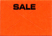 "Garvey GX1812 Pricing Labels (1 Sleeve = 11 rolls @ 1,275 labels/sleeve = 14,025 labels) - Fluorescent Red - ""Sale""  *Clearance Item*"