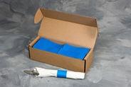 "4 1/2"" x 1 1/2"" Paper Napkin Bands (2,000 bands/pack) - Blue"