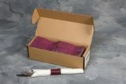 "4 1/2"" x 1 1/2"" Paper Napkin Bands (2,000 bands/pack) - Burgundy"
