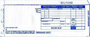 "2-Part LONG (3 1/4"" x 7 7/8"") Sales Imprinter Slips (100 slips/pack) - Truncated"