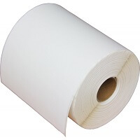 """4"""" x 8"""" - Die Cut High Gloss Inkjet Label - Paper; 8 Rolls/case; 125 Labels/roll"""