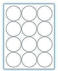 "2.5"" Circle  Laser/Inkjet Labels; 12 up; (250 sheets/box) - Standard White Matte"