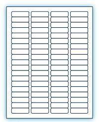 """1.75"""" x 0.5""""  Laser/Inkjet Labels; 80 up; (250 sheets/box) - Standard White Matte"""