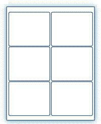 """4"""" x 3.33""""  Laser/Inkjet Labels; 6 up; (100 sheets/box) - Standard White Matte"""