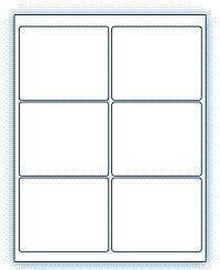 """4"""" x 3.33""""  Laser/Inkjet Labels; 6 up; (250 sheets/box) - Standard White Matte"""