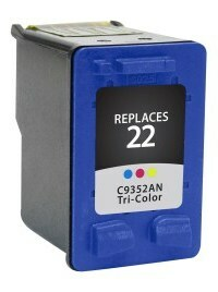 HP C9352AN #22 Compatible Inkjet Cartridge (165 page yield) - Color