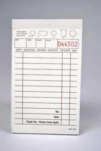 2-Part Tan Carbonless Guest Checks (5,000 checks/case) - 101SP