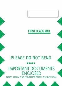 "9"" X 12-1/2"" Jumbo Self-Seal Claim Form CMS1500 Envelope (500 envelopes/case) - No Imprint"