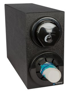Sentry Bev & Lid Dispenser Cabinet (1) C5450C (1) L2400C & Black Trim Rings