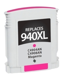 HP C4908AN #940XL Compatible Inkjet Cartridge (1400 page yield) - Magenta