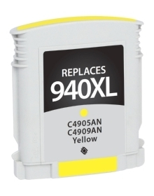 HP C4909AN #940XL Compatible Inkjet Cartridge (1400 page yield) - Yellow