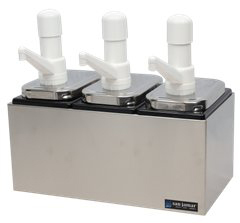 Condiment Pump Center - 3 Wells w/P7500 Pumps