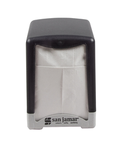 Compact Tabletop Napkin Dispenser Lowfold - Black Pearl