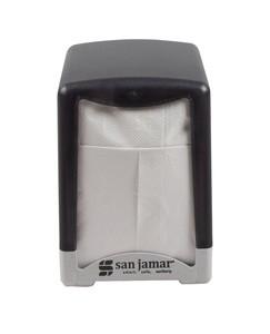 Compact Tabletop Napkin Dispenser Lowfold - Black Pearl