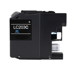 Brother LC203C Compatible Inkjet Cartridge (550 page yield) - Cyan