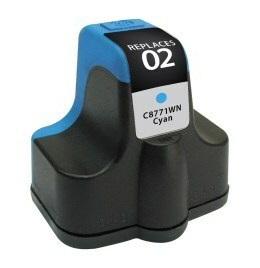 HP C8771WN #02 Compatible Inkjet Cartridge (400 page yield) - Cyan