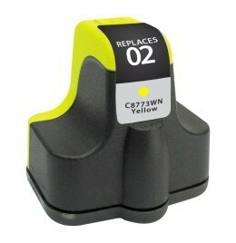 HP C8773WN #02 Compatible Inkjet Cartridge (500 page yield) - Yellow